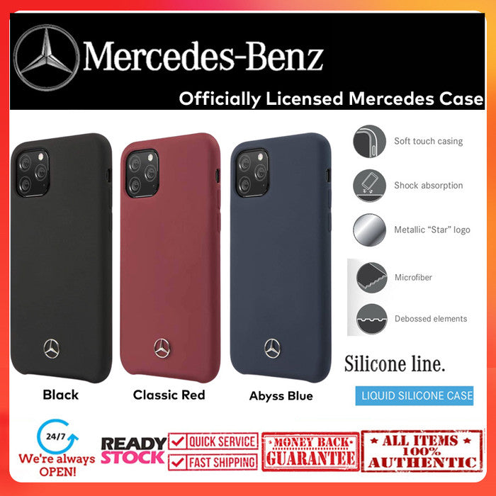Case iPhone 11 Pro Max / 11 Pro MERCEDES OFFICIAL Silicone Microfiber