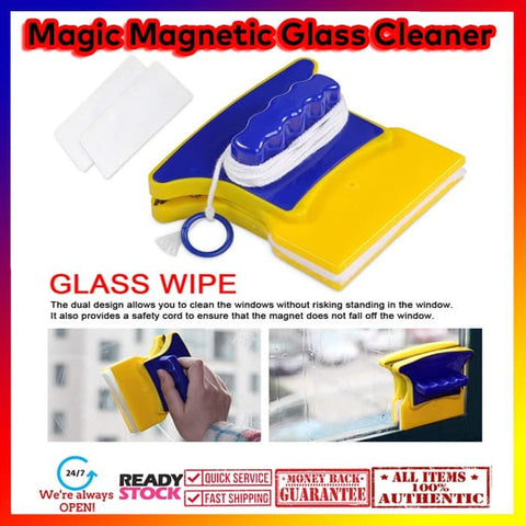 Magnetic Window Brush Home Window Cleaner (Pembersih Kaca)