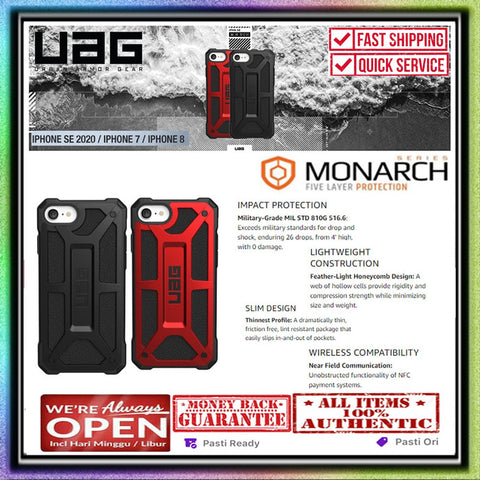 iPhone SE 2020 / 7 / 8 Case UAG Urban Armor Gear MONARCH Rugged Casing