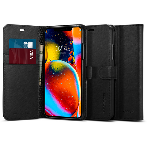 iPhone 11 / 11 Pro / 11 Pro Max Case Original Spigen Wallet S Safiano