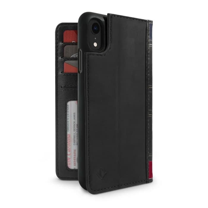 Twelve South iPhone XR Case BookBook 3-in-1 Leather Wallet