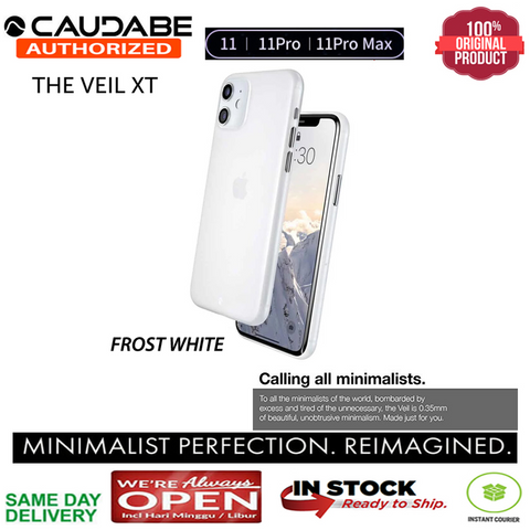 iPhone 11 / 11 Pro / 11 Max Case Original Caudabe The Veil XT (0.35mm)