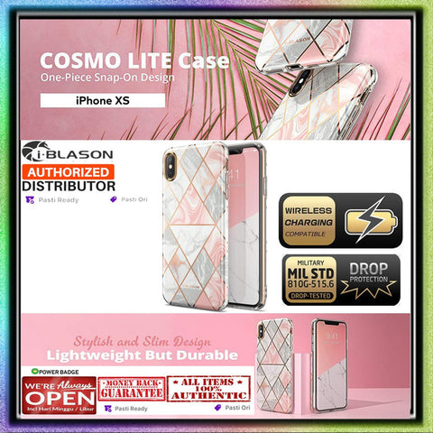 iPhone XS MAX / XS / XR Case IBlasson Cosmo Lite Marble (0.38mm)
