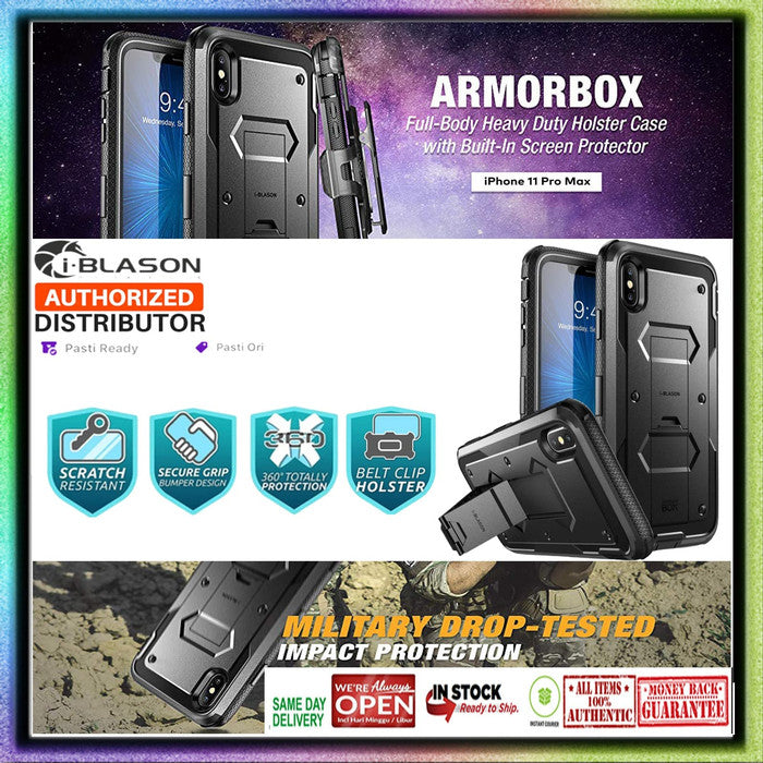 i-Blason Case iPhone Xs Max Armorbox Full Body Protection W/ Belt Clip