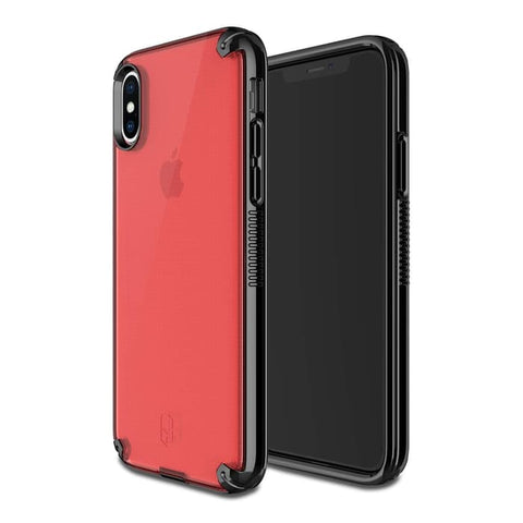 Patchworks iPhone XS MAX Case LEVEL VISION Red Black
