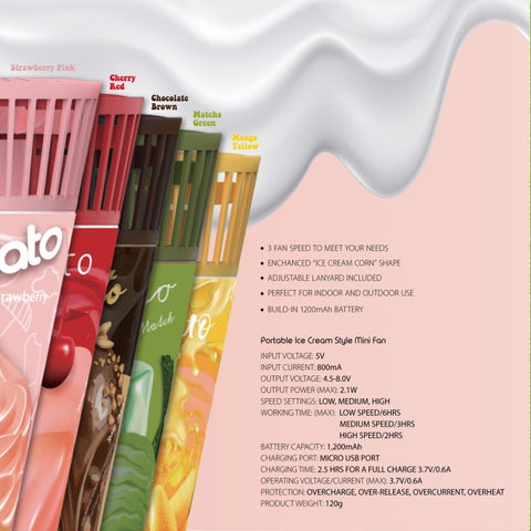 Switcheasy Gelato Portable Cone Fan (3 Speed Wind)