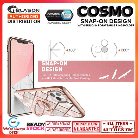 Case iPhone 11 Pro Max IBlasson Cosmo Snap Case Marble (W/ Kickstand)