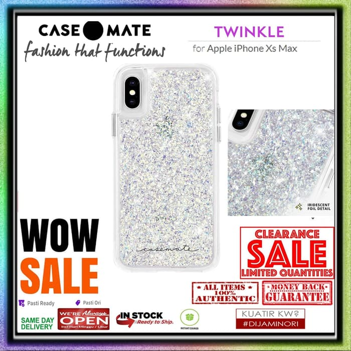 Case iPhone XS MAX CASEMATE TWINKLE IRIDESCENT (ORIGINAL CLEARANCE)