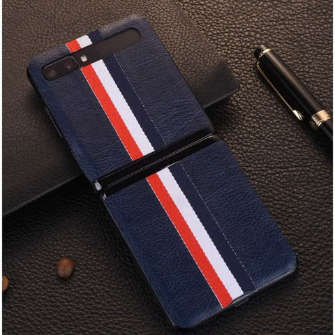 Samsung Galaxy Z Flip Case Leather LINE Skin