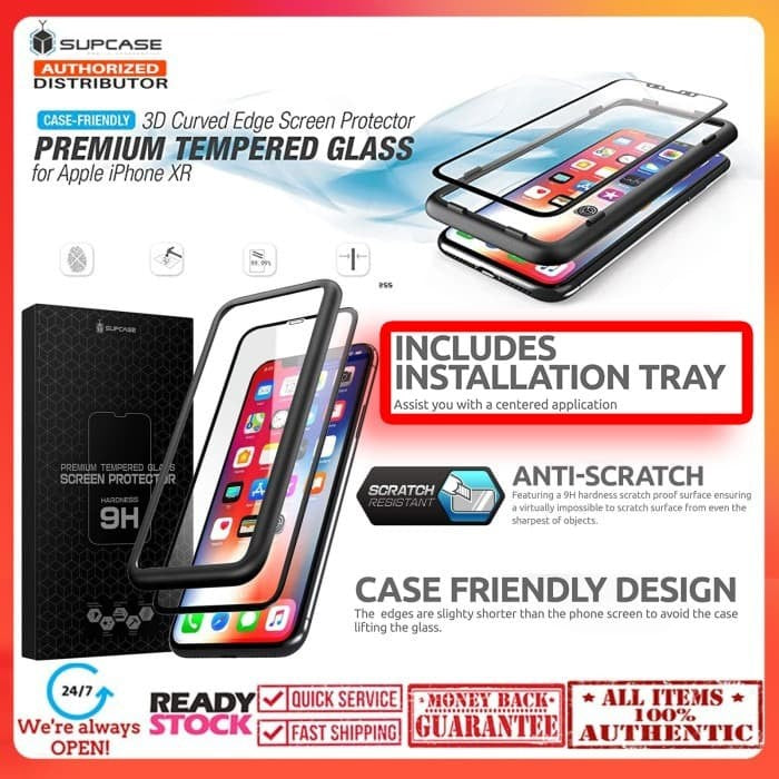 iPhone 11 / iPhone XR 3D SUPCASE Premium Tempered Glass CaseFriendly