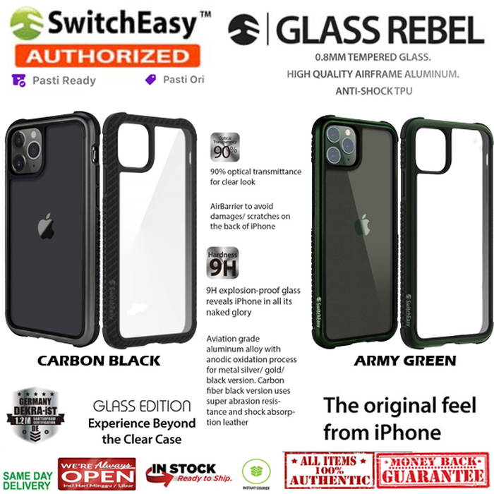 iPhone 11 / 11 Pro / 11 Pro Max Case Switcheasy REBEL GLASS