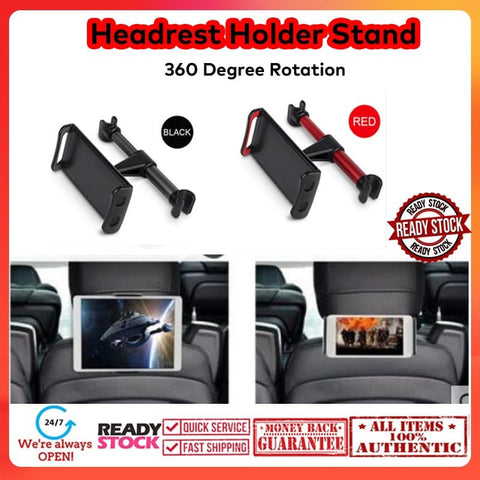 Car Headrest Bracket 360 Degree Rotation Up to 4 -11 inch(SHORT)