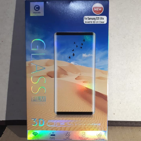 Samsung S20 Ultra / S20 Plus / 20 UV Glass Mocolo Tempered Glass FULL