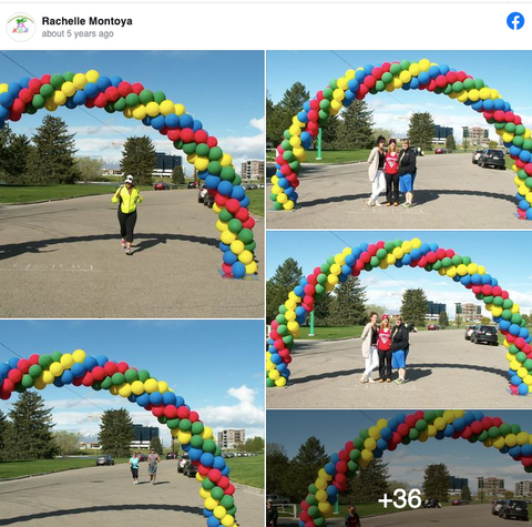 Utah Balloon Arch 5k Finish Line