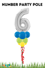Load image into Gallery viewer, Birthday Balloon Party Pole with Number