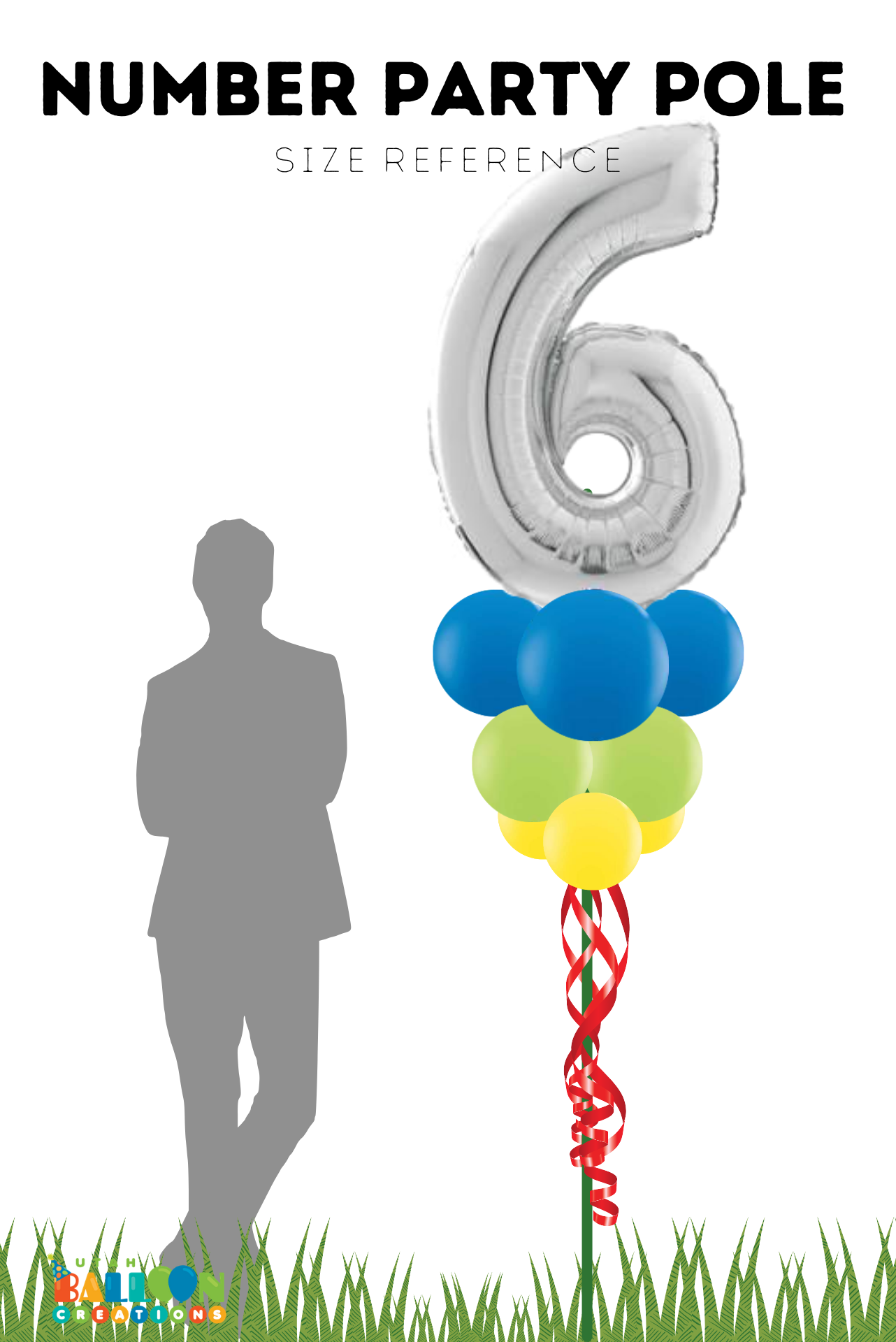 Birthday Balloon Party Pole with Number
