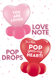 Love Note Popping Balloon Gift