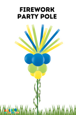 Load image into Gallery viewer, Festive Firework Balloon Party Pole