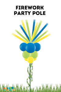 Festive Firework Balloon Party Pole