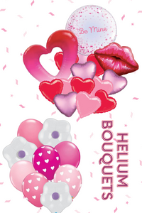 Valentine's Day Helium Balloon Bouquets
