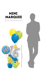 Load image into Gallery viewer, Image of Mini Marquee Upgrade in size reference to person