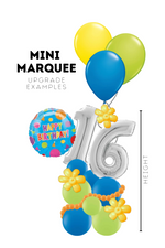Load image into Gallery viewer, Photo of Mini Balloon Marquee Deliverable Birthday Item