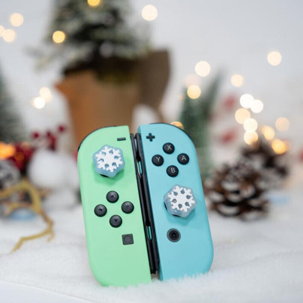 Shaped Snowflake Thumb Stick Grip Cap