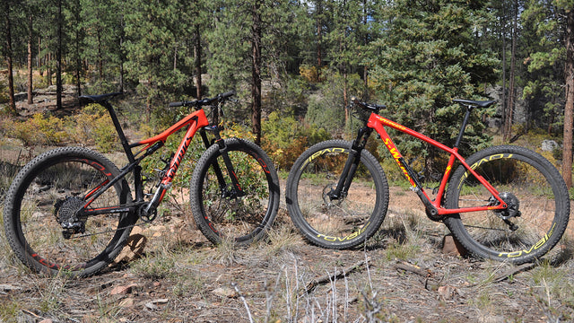 Hardtail and Full Suspension Mountain Bikes