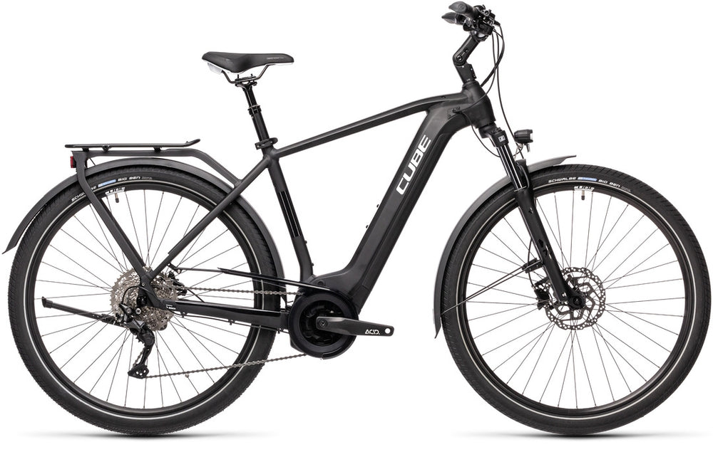 Cube Touring Hybrid Pro 625 Electric Bike 2021 Black Standard Crossbar