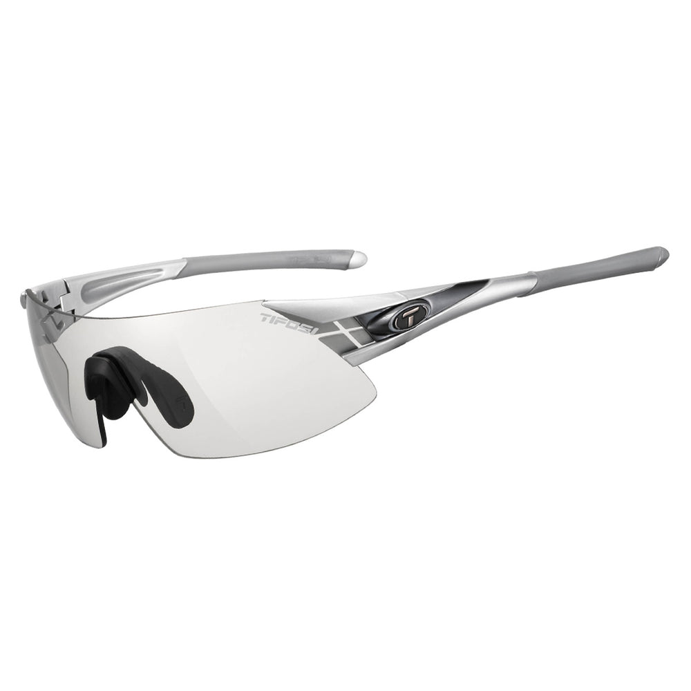 Tifosi Podium XC Silver/Gunmetal Fototec Light Night Lens
