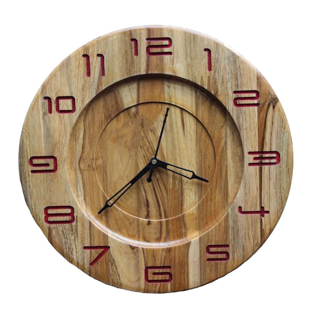 Premium Handcrafted Teakwood Wall Clock