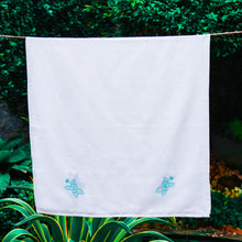 Load image into Gallery viewer, Assorted Premium White Embroidery Towels (Set of 3 pcs)– Ultra Soft, Light Weight and Highly Absorbent (60 inch x 30 inch) - weaveskart.com - LAW India (looms & weaves)