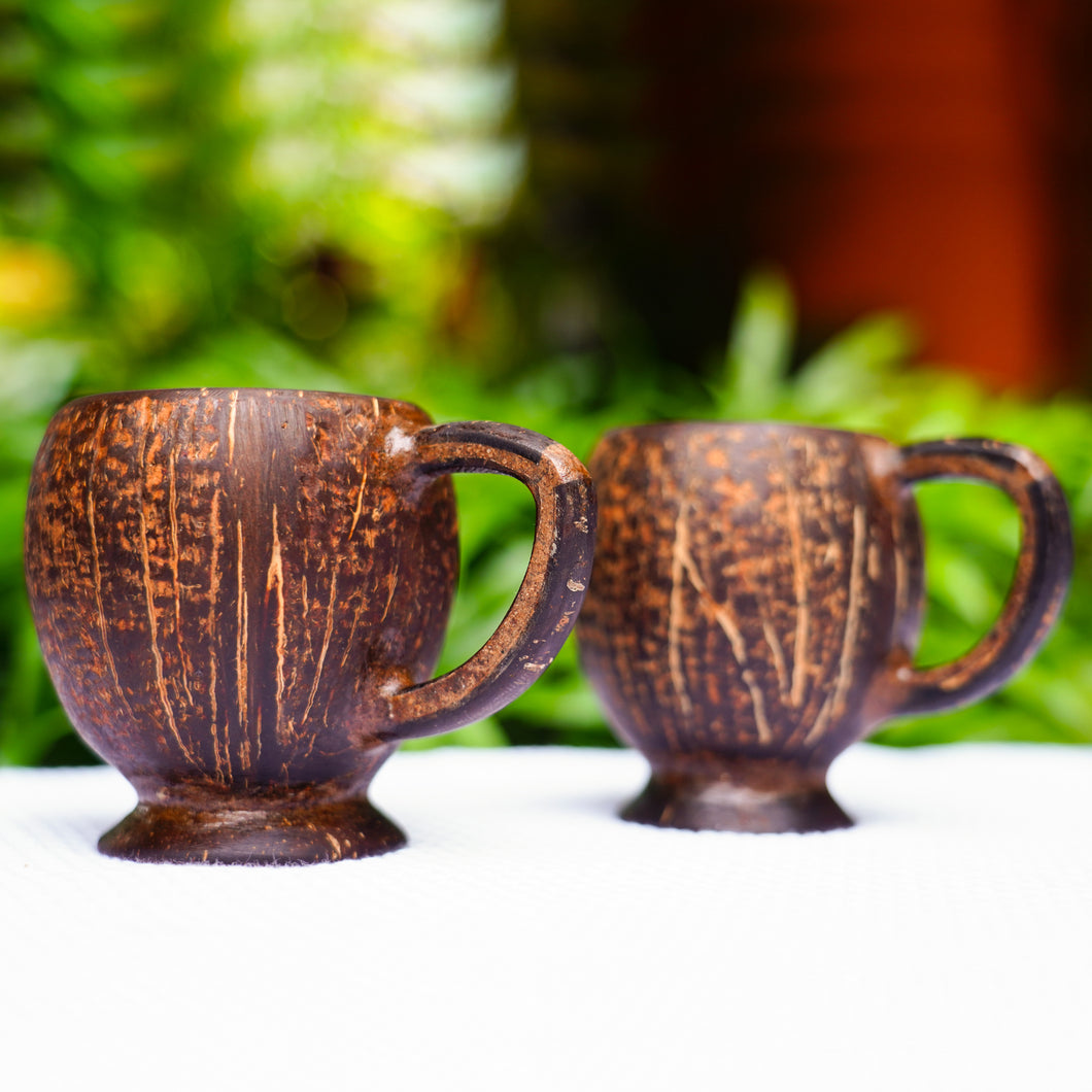 Handmade Coconut Shell Mug – Best for serving Tea, Coffee or Milk – 2 pcs