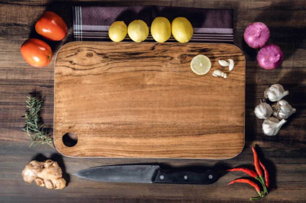 Premium Anti-Bacterial Wooden Cutting/Chopping Board for Kitchen