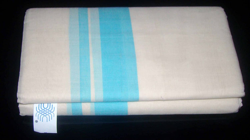 Kerala Handloom Dhoti - weaveskart.com - LAW India (looms & weaves)