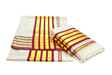 Load image into Gallery viewer, Kerala Handloom Set Mundu - weaveskart.com - LAW India (looms & weaves)