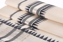 Load image into Gallery viewer, Kerala Handloom Silver Kasavu Saree With Black Temple Design - weaveskart.com - LAW India (looms & weaves)