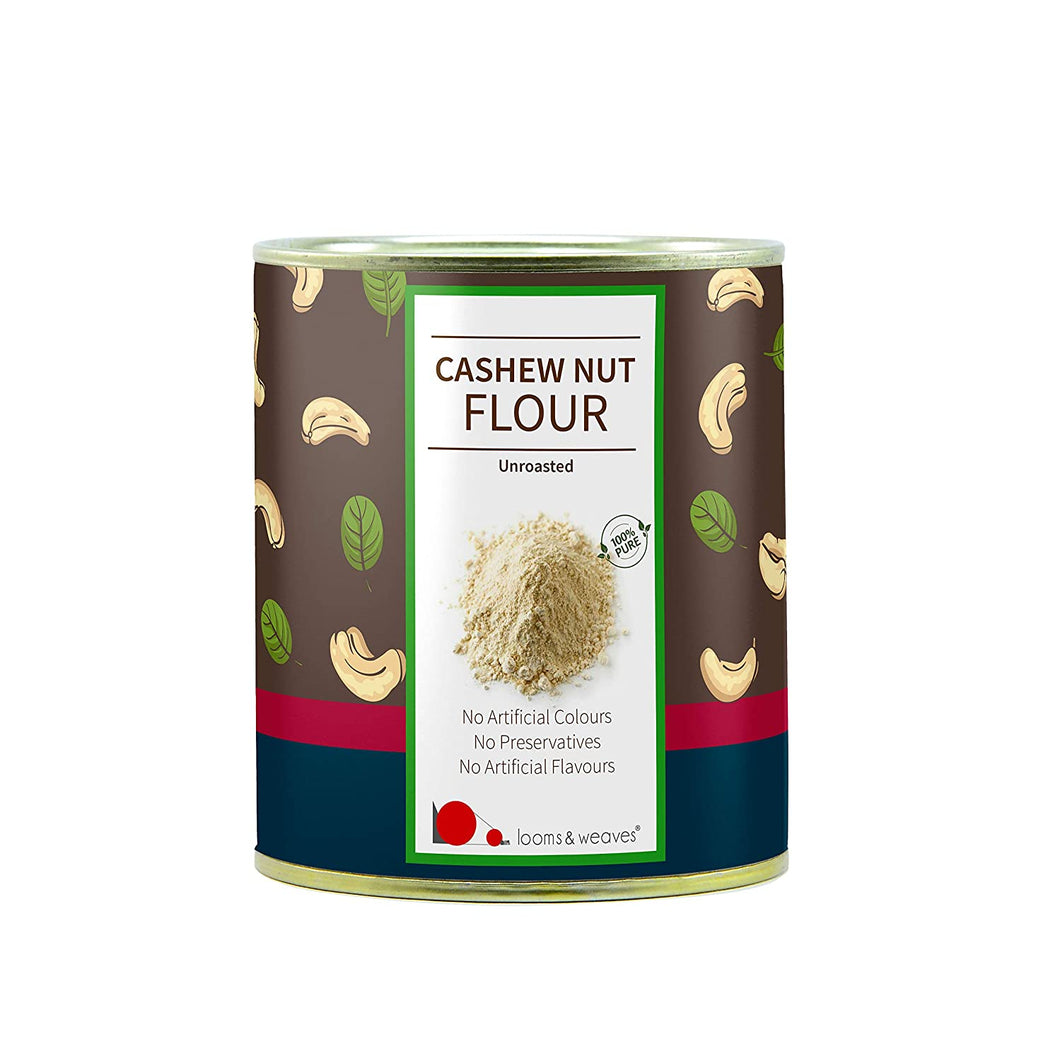 Premium Raw Cashew flour -  Gluten-free, & Grain-free, Vegan, Paleo-friendly & Unroasted - 250 gm - weaveskart.com - LAW India (looms & weaves)