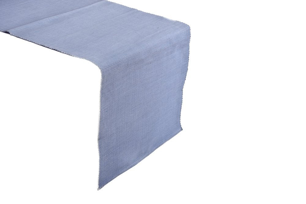 1 Handwoven Cotton Light Blue Table Runner