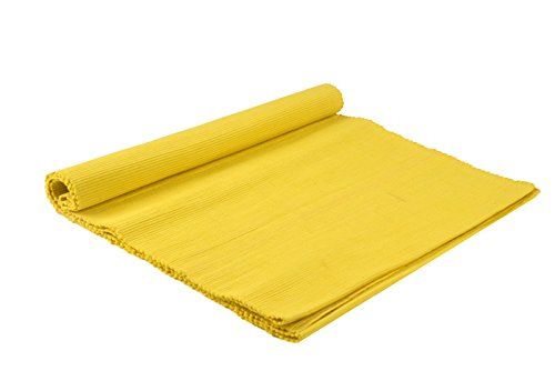 1 Handwoven Cotton Yellow Table Runner (49