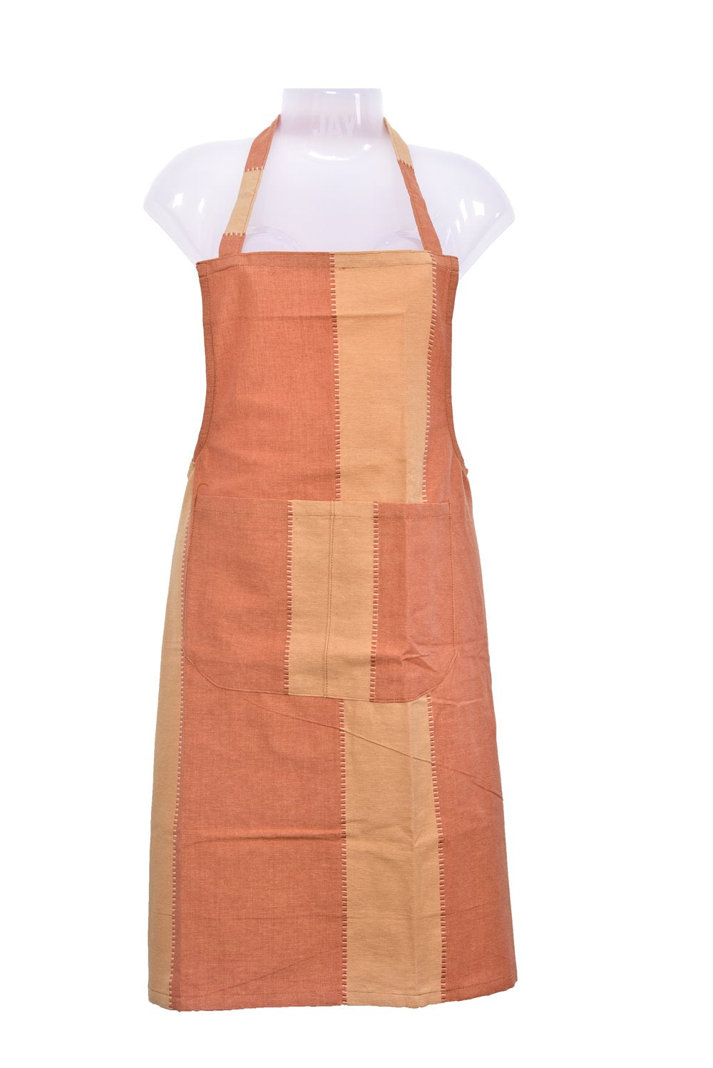 Cotton Apron with front center Pocket with long ties for Women/Men /Chef - 1 Pc