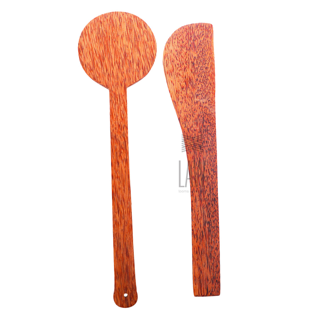 Combo offer of coconut wood spatula – 2 Nos