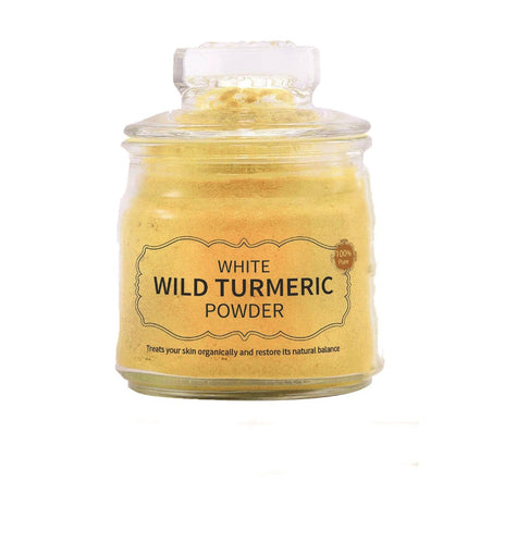 White Wild Turmeric Powder – 100 gm (Rarely Available and Nature's Best Remedy for Skin Care) - weaveskart.com - LAW India (looms & weaves)