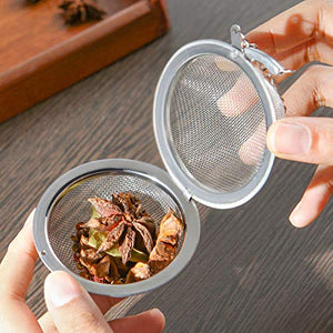 Tea Infuser - Stainless Steel Food Grade Mesh Tea Strainer Tea Filter (2-Pack, 4.5cm)