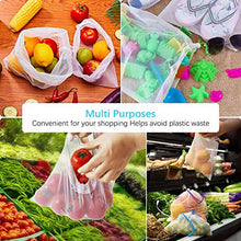 Load image into Gallery viewer, Esonmus 12pcs Reusable Mesh Produce Bags Washable Reusable Eco Friendly Bags Shopping Bags For Fruit Vegetable Toys