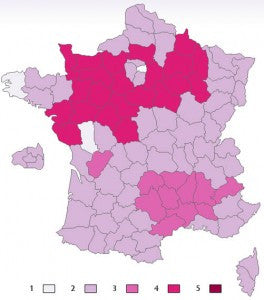 French map of kisses