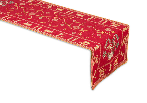 Quot Montagne Christmas Quot Jacquard Table Runner French Linen