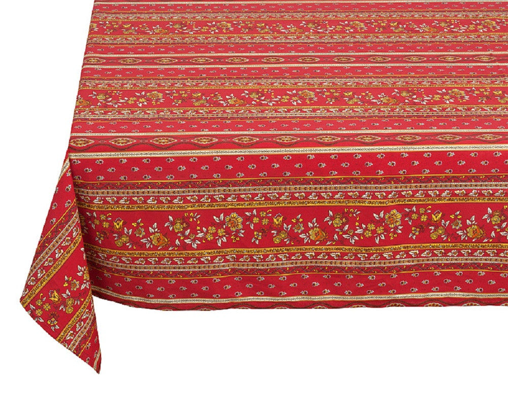 """Avignon"" Square COATED Cotton Tablecloth"