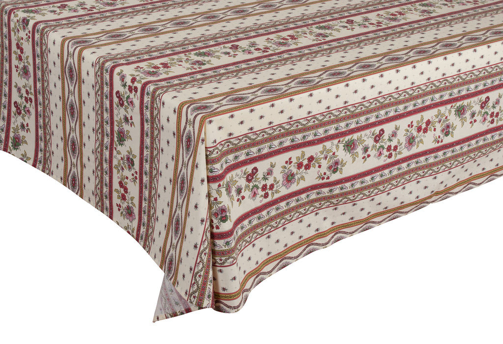 """Avignon"" Rectangle COATED Cotton Tablecloth"