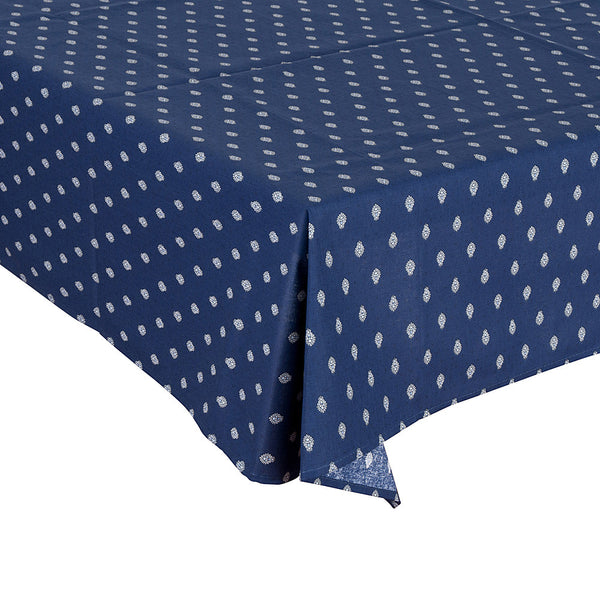 """Bastide Allover"" Square COATED Cotton Tablecloth"